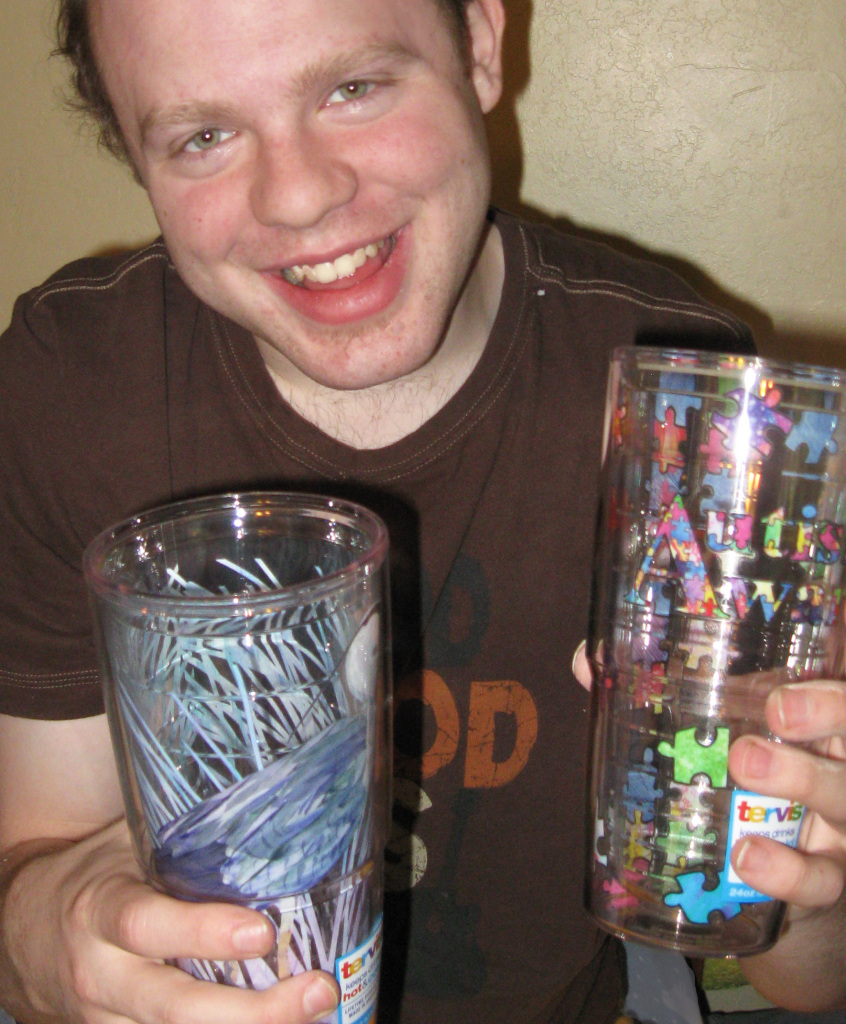 Noah with Tervis Tumblers-Licensing page