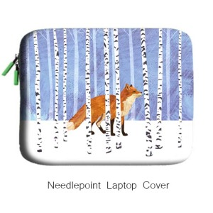 needlepoint laptop cover