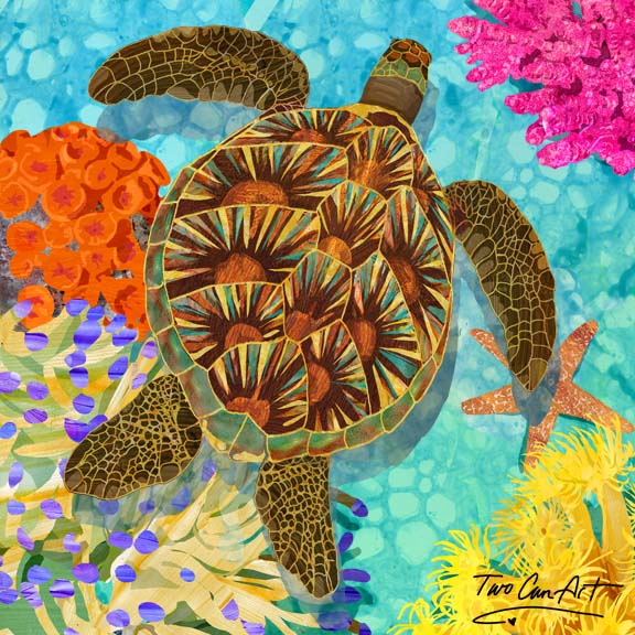 Famous Sea Turtle Wall Art - Two Can Art Store TU27